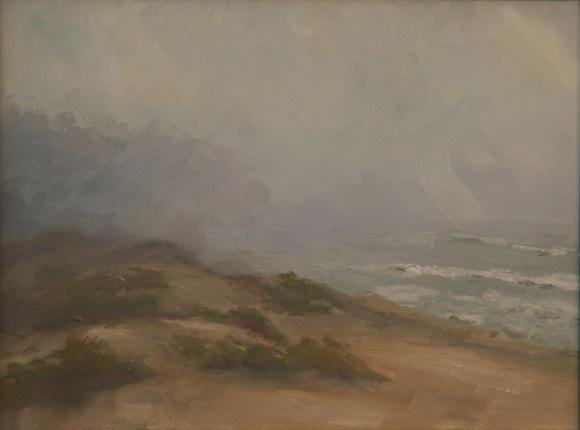 Pescadero Dune in Winter, oil painting by Decker Walker