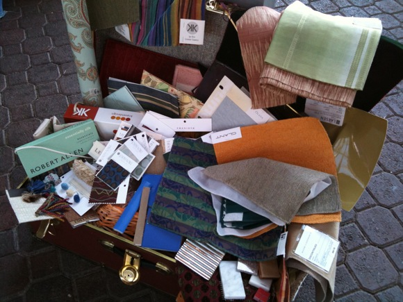 fabrics at FabMo's annual Textile Art Boutique
