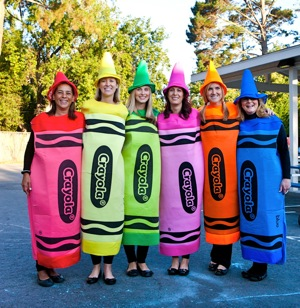 school teachers dressed for Halloween