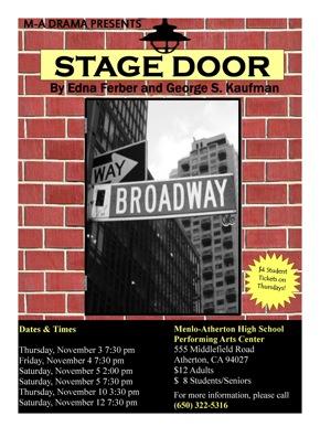 Stage Door comes to Menlo Atherton High School beginning Nov. 3
