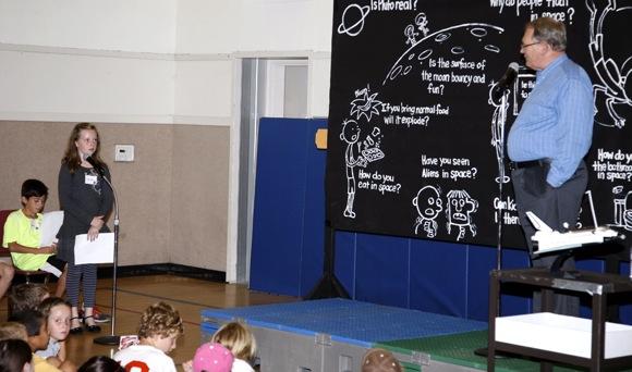 "Spotted: Astronaut Karol ""Bo"" Bobko at Oak Knoll School"