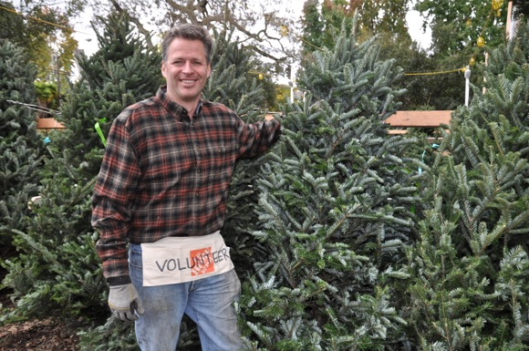 Adam Kerr, chair of Nativity School Christmas tree lot