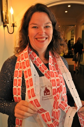 raffle tickets at MPAEF holiday boutique