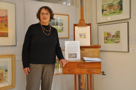 artist Esther Baran at her studio at the Allied Arts Guild