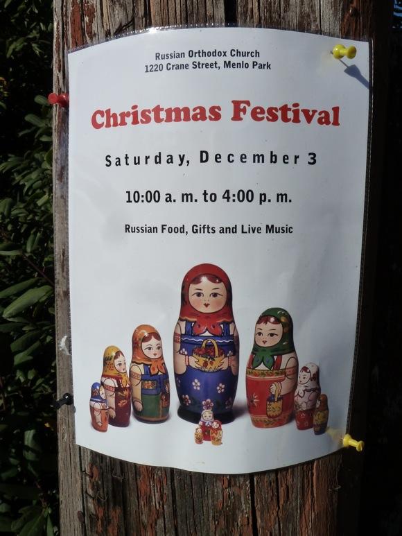 Christmas Festival at Russian Orthodox Church on Saturday, Dec. 3