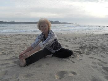 yoga teacher & Menlo Park resident Sheryl Nonneberg