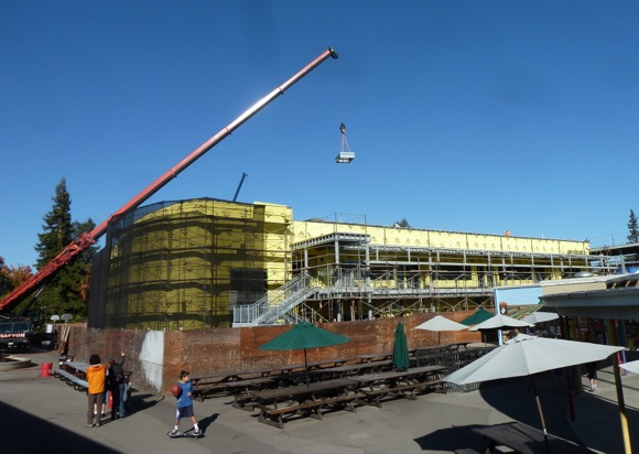 Hillview School construction in Menlo Park