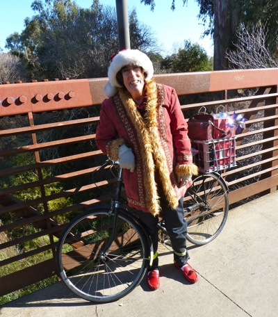 Mrs. Santa Claus in Menlo Park