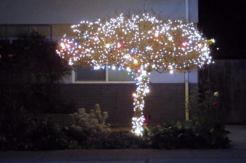 Spotted: Over-the-top, uniquely-shaped holiday tree