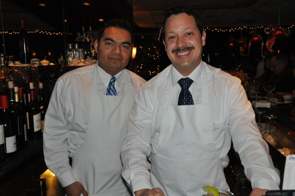 Two of Carpaccio's long time bartenders