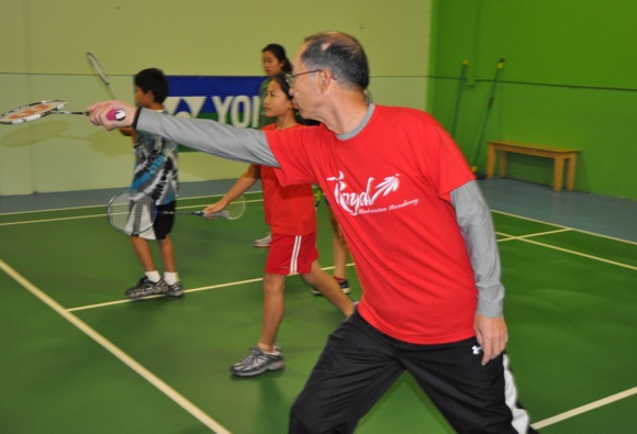 Ramon Young, coach at Royal Badminton Academy
