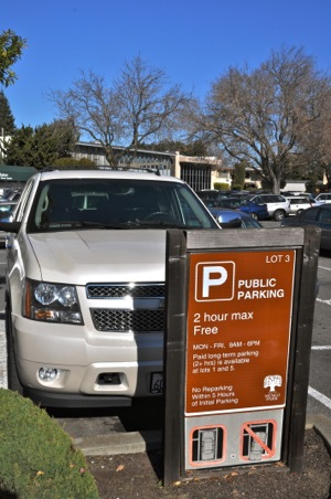 Parking plaza 3 in downtown Menlo Park