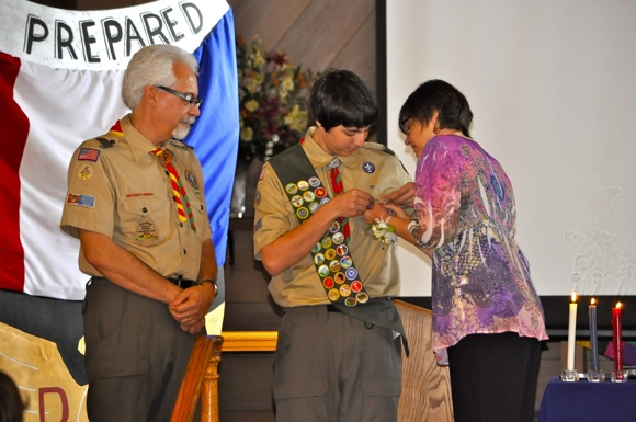 Vincent DeZutti becomes Eagle Scout