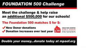 Post image for MPAEF Foundation 500 Challenge matches new or increased donations through Feb. 15