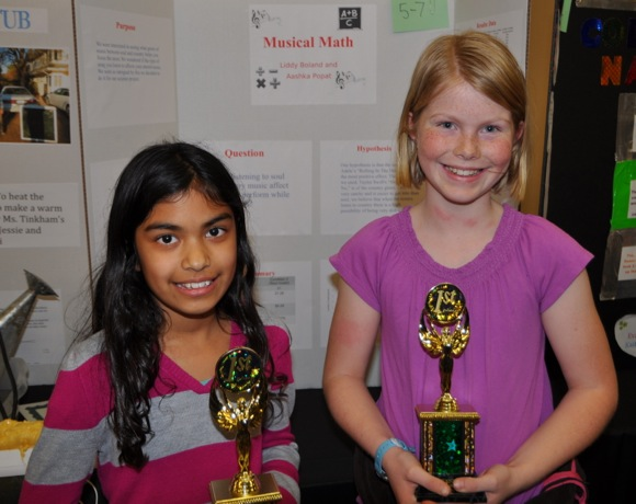 winners at La Entrada Science Fair