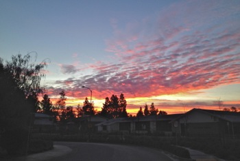 sunrise over Oak Knoll School in Menlo Park