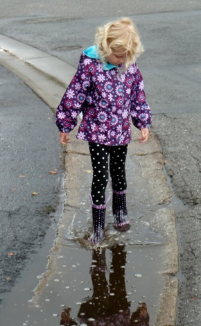 puddle jumping in Menlo Park