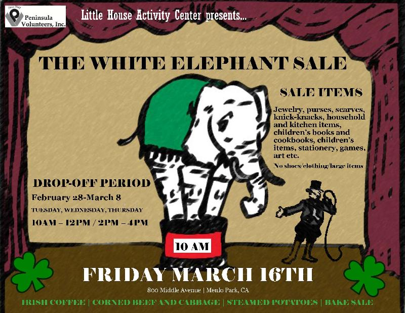 Little House White Elephant Sale set for March 16