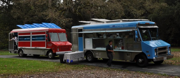 Food trucks at Flood Park re-opening in Nov, 2011