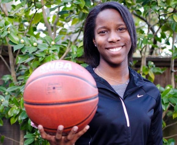 Malea Bieselin, coach of Hillview School 7th grade boys basketball team