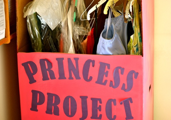 closet full of donated gowns thanks to Princess Project sponsored by M-A Key Club