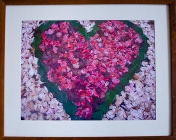 Found art, found hearts say Happy Valentine's Day year round in Menlo Park home
