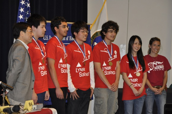Lynbrook High School Team 1, winners of Bay Area Regional Science Bowl