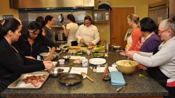Chef Suzy teaches Stanford Park nannies to cook
