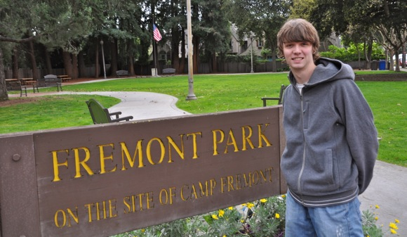 Bryce Cronkite-Ratcliff, who made a video documentary on Camp Fremont
