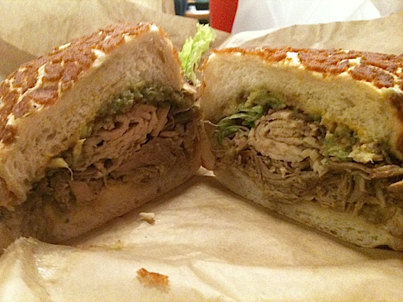 turkey sandwich made at Jan's Deli in Menlo Park