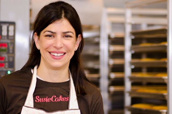 Susan Sarich of SusieCakes at Menlo Park bakery