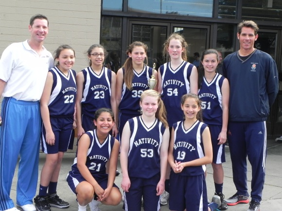 Nativity School championship basketball team