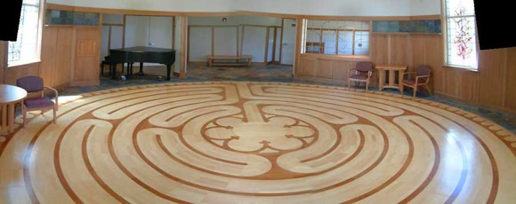 labyrinth at Trinity Church