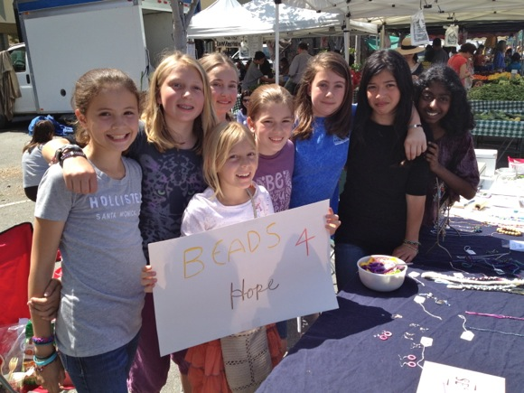 Spotted: Hillview School girls selling Beads 4 Hope