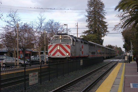 Caltrain at Menlo Park train station
