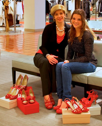 Catherine and Charlotte McMillan, honorary co-chairs of My New Red Shoes Stiletto Strut 2012