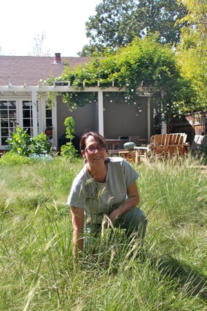 Christine Holland in her native plant garden