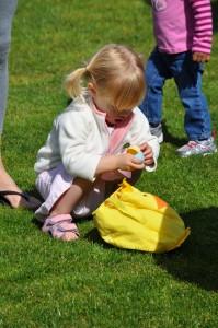 Girl opening egg_V