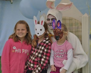 Girls with Easter bunny_H