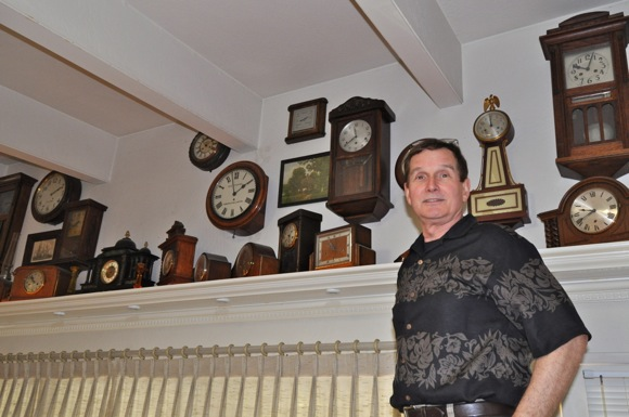 Clock collector Gordy Gourdin