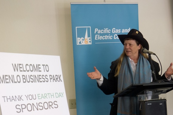 Environmental advocate L. Hunter Lovins at Menlo Business Park