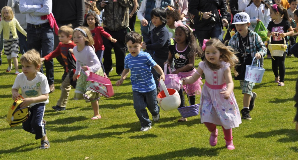 Menlo Park's annual Easter egg hunt is a hit with local families – especially the littlest ones