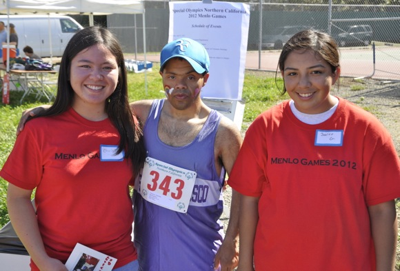 Special Olympic athletes compete in track & field events at Menlo School