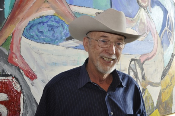 Michael Killen paints with Harry Cohen to make statement about saving the Bay
