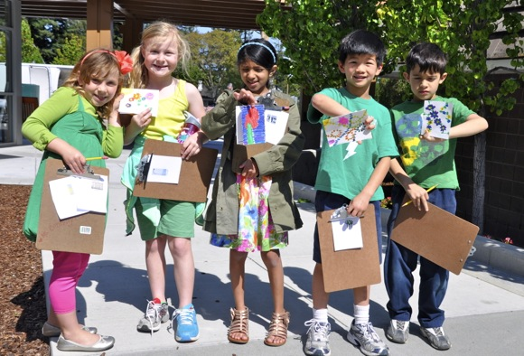 Spotted: Phillips Brooks School first graders getting in a neighborly mood for Earth Week