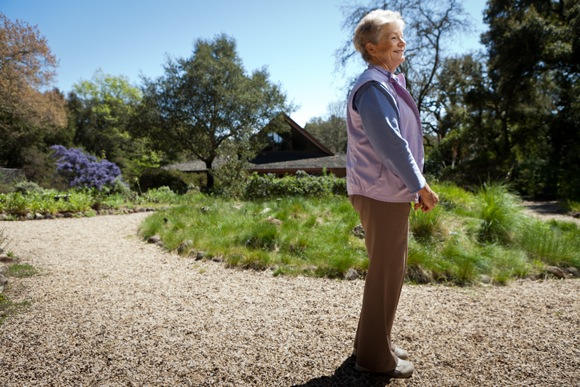 Tina Dreyer lends her plant collection talents to the Californa Native Plant Garden