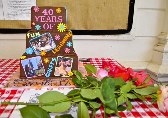 40th anniversary cake at Peninsula School spring fair