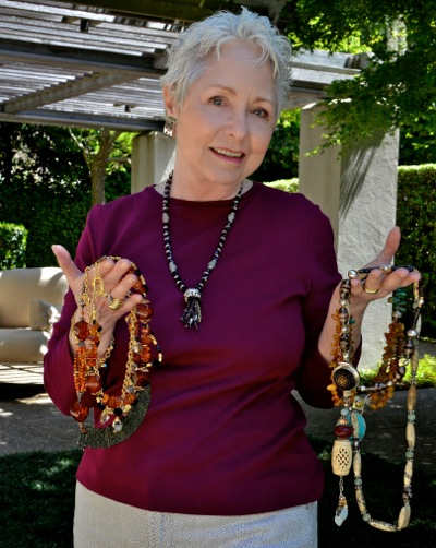 jewelry maker Cathy Wentz of Atherton