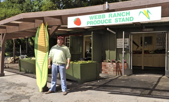 Deano Lovecchio, manager of Webb Ranch Produce Stand