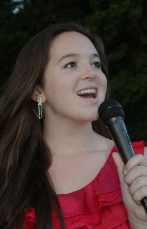 Jazz vocalist Jenna Scandalios